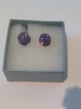 Lilac Crystal Earrings Set in Sterling Silver